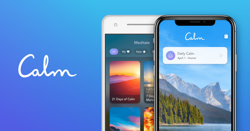 Calm is one of the best rated apps among content marketers