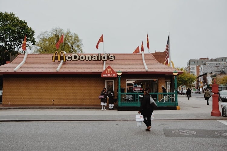 McDonald's branding in most of the world is yellow and red, whereas in other parts of the world it's green and yellow