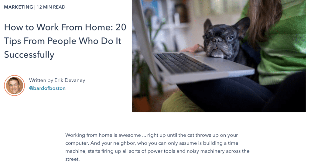 Articles on remote work tips are one of the most in-demand types of digital content for 2021