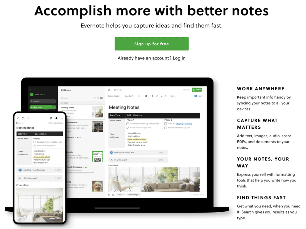 Evernote is one of the best productivity apps out there