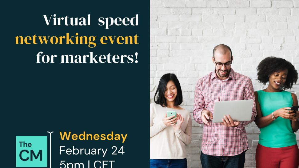 virtual networking event for content creators on February 24, hosted by The Content Mix