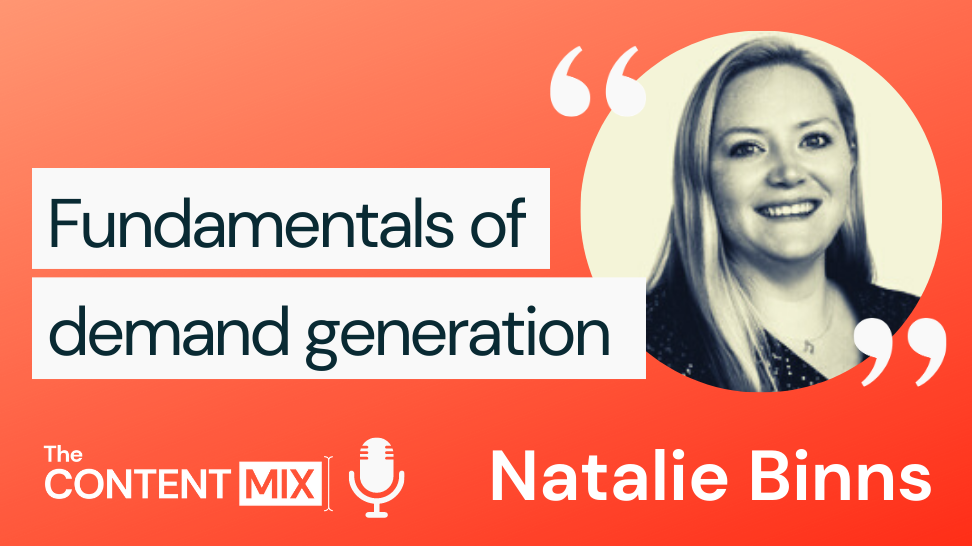 The Content Mix podcast interview with VeraContent's Shaheen Samavati and Natalie Binns, senior director of demand generation marketing at Omnisend: