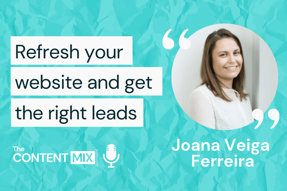 The Content Mix podcast interview with VeraContent's Shaheen Samavati and marketing consultant Joana Veiga Ferreira, on how to grow your online presence: