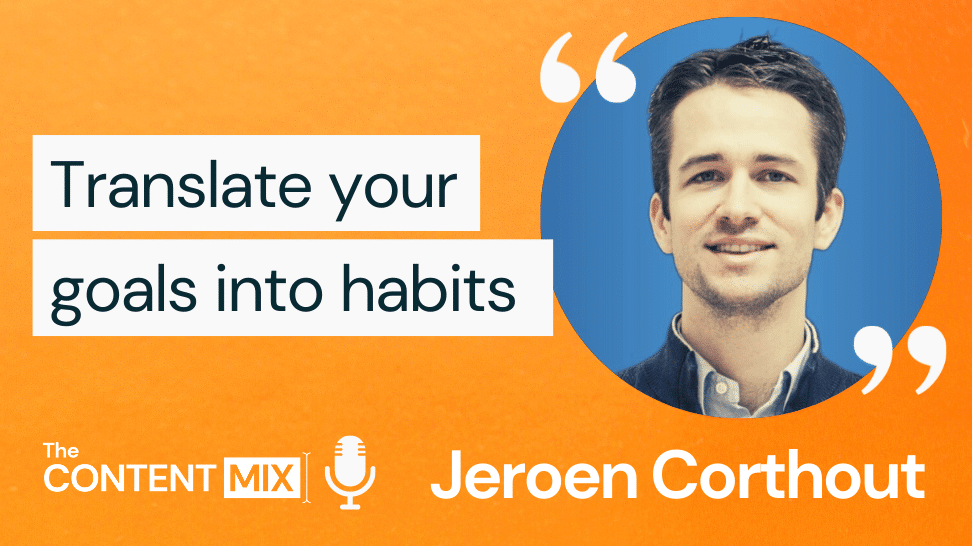 The Content Mix podcast interview with VeraContent's Kyler Canastra and Jeroen Corthout, co-founder of Salesflare, on the importance of empathy in content marketing and sales