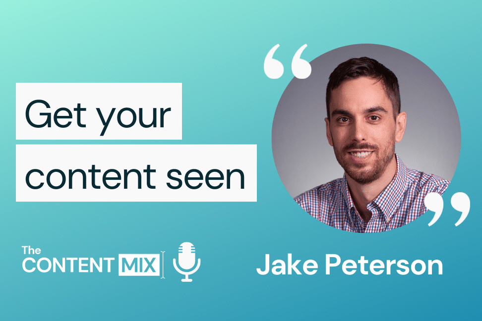 The Content Mix podcast interview with VeraContent's Kyler Canastra and Jake Peterson, Content and SEO Specialist at Abita, on content, SEO and marketing strategies