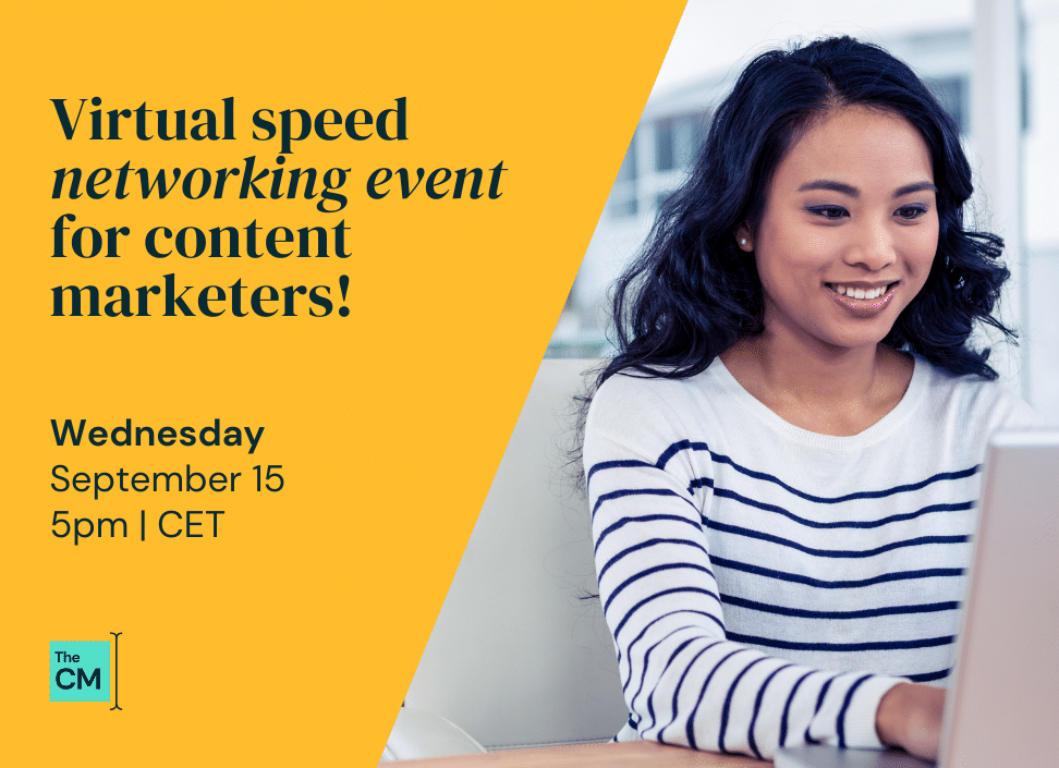 Post for The Content Mix networking event on September 15