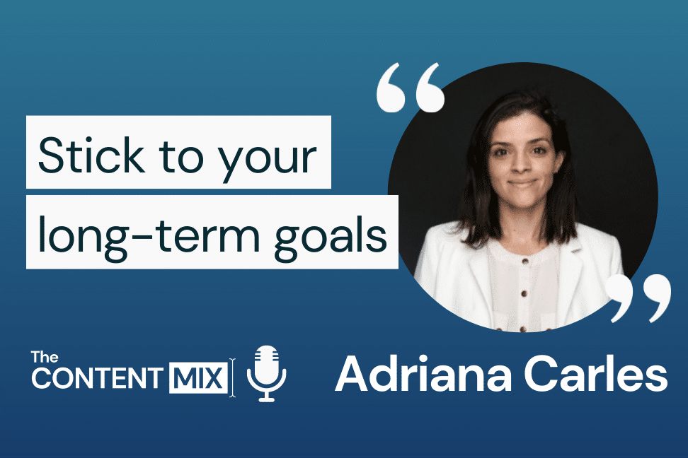The Content Mix podcast interview with VeraContent's Kyler Canastra and Adriana Carles, content and social media at e-commerce company Visual Meta, on the importance of creating relevant content