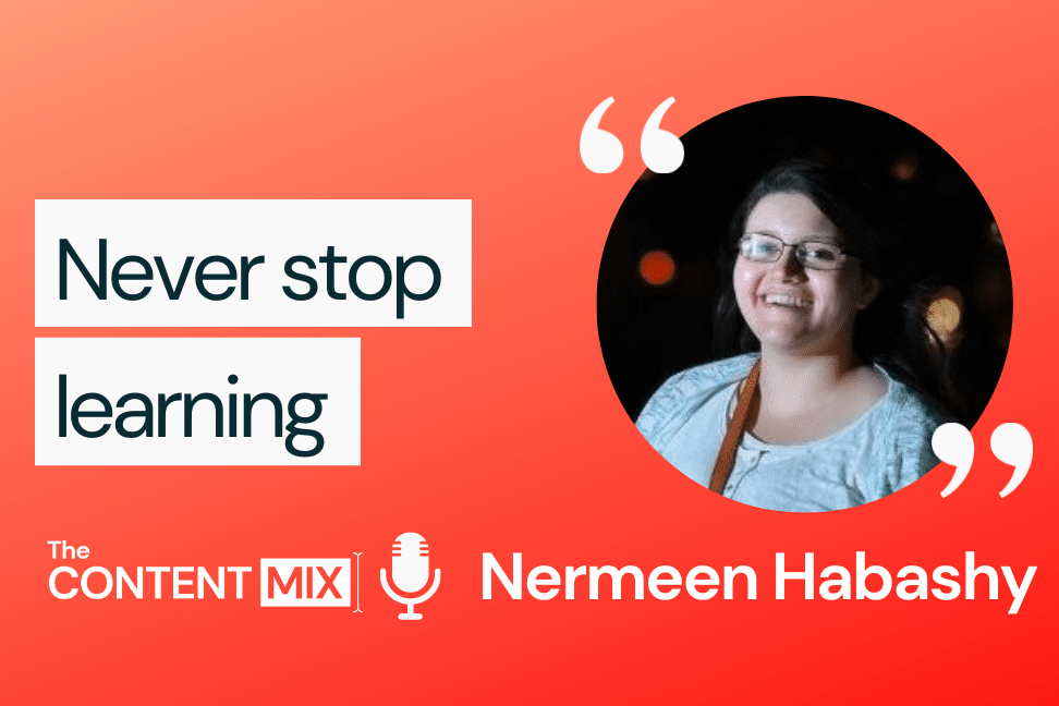 The Content Mix podcast interview with VeraContent's Kyler Canastra and Nermeen Habashy,